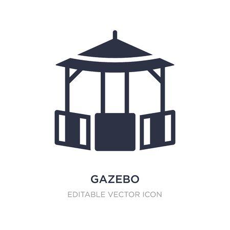 gazebo icon on white background. Simple element illustration from Architecture and city concept. gazebo icon symbol design.