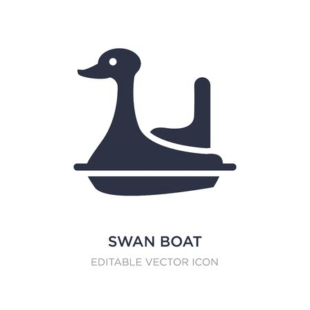 swan boat icon on white background. Simple element illustration from Entertainment concept. swan boat icon symbol design.