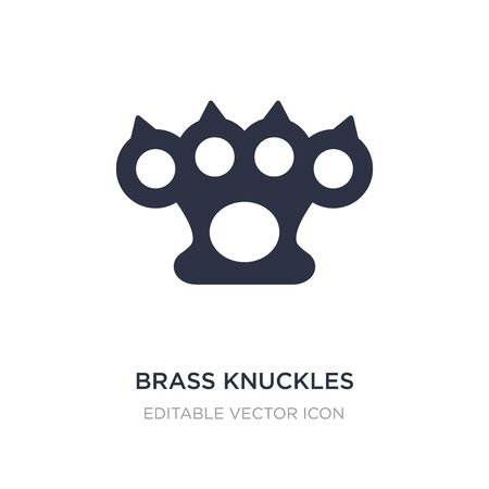 brass knuckles icon on white background. Simple element illustration from Weapons concept. brass knuckles icon symbol design.