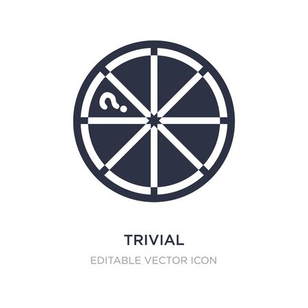trivial icon on white background. Simple element illustration from Gaming concept. trivial icon symbol design.