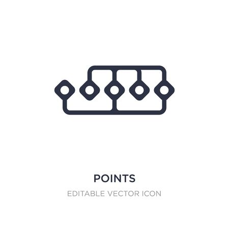 points connected chart icon on white background. Simple element illustration from Business concept. points connected chart icon symbol design. Ilustracja
