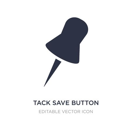 tack save button icon on white background. Simple element illustration from Tools and utensils concept. tack save button icon symbol design.