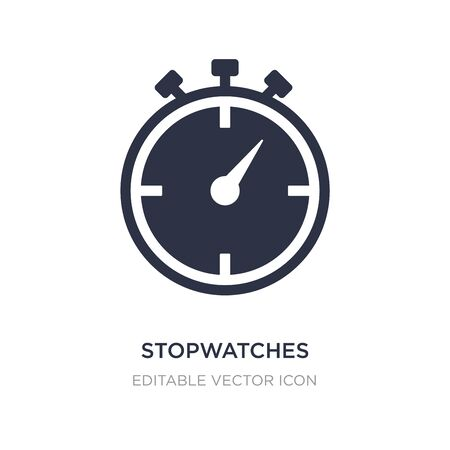 stopwatches icon on white background. Simple element illustration from UI concept. stopwatches icon symbol design.