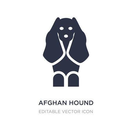 afghan hound icon on white background. Simple element illustration from Animals concept. afghan hound icon symbol design. Vettoriali