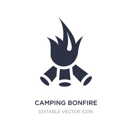 camping bonfire icon on white background. Simple element illustration from Nature concept. camping bonfire icon symbol design. Illusztráció