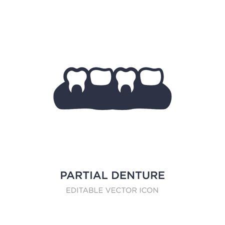 partial denture icon on white background. Simple element illustration from Dentist concept. partial denture icon symbol design.
