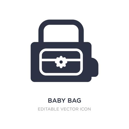 baby bag icon on white background. Simple element illustration from Travel concept. baby bag icon symbol design. Vectores
