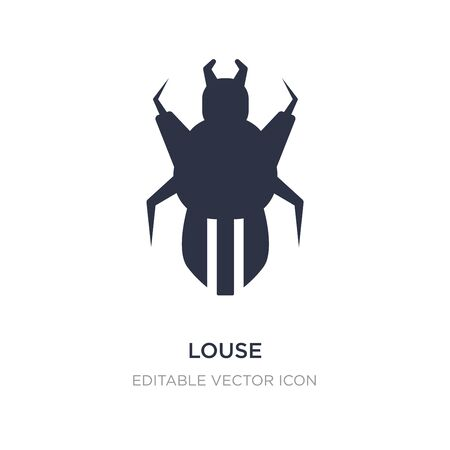 louse icon on white background. Simple element illustration from Animals concept. louse icon symbol design. Illustration