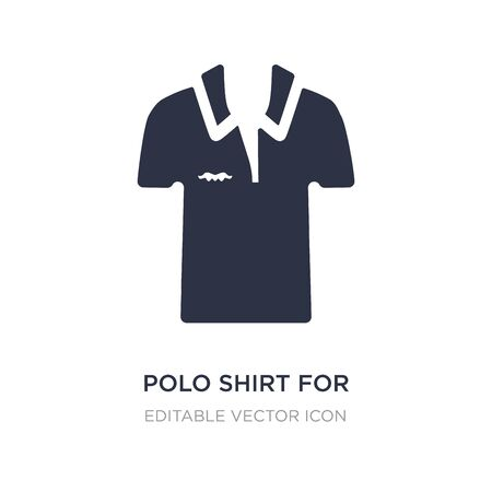 polo shirt for women icon on white background. Simple element illustration from Fashion concept. polo shirt for women icon symbol design.