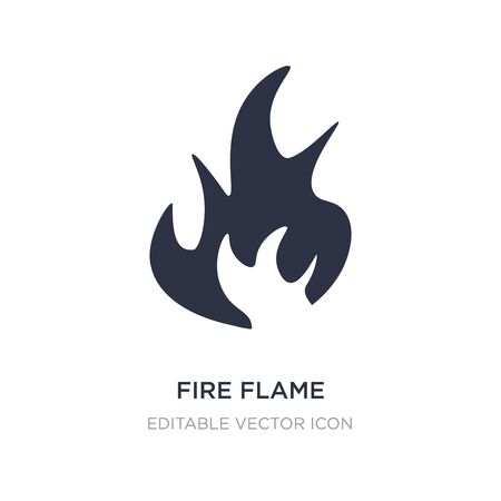 fire flame icon on white background. Simple element illustration from Nature concept. fire flame icon symbol design.