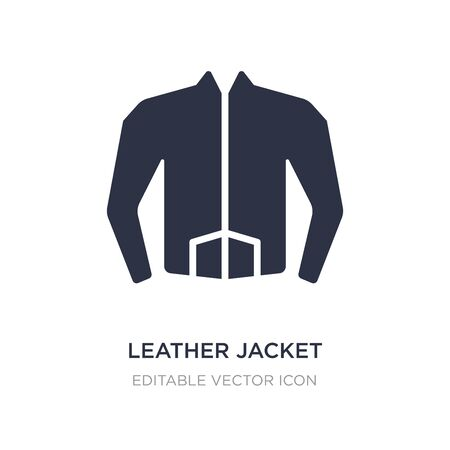 leather jacket icon on white background. Simple element illustration from Fashion concept. leather jacket icon symbol design. Иллюстрация