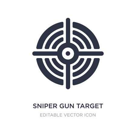 sniper gun target icon on white background. Simple element illustration from General concept. sniper gun target icon symbol design. 向量圖像