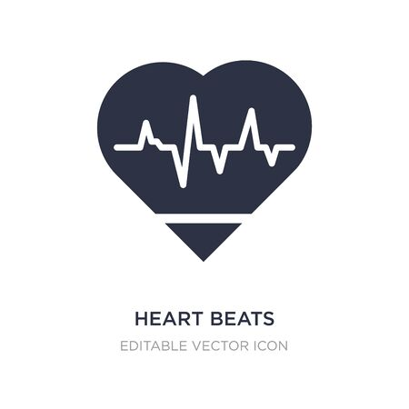 heart beats lifeline in a heart icon on white background. Simple element illustration from Medical concept. heart beats lifeline in a heart icon symbol design.