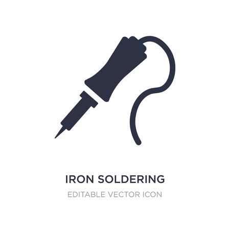 iron soldering icon on white background. Simple element illustration from Construction and tools concept. iron soldering icon symbol design. Ilustracja