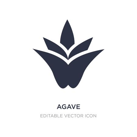 agave icon on white background. Simple element illustration from Nature concept. agave icon symbol design. 向量圖像