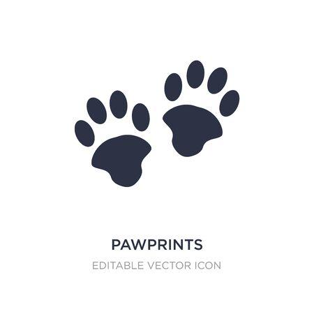 pawprints icon on white background. Simple element illustration from Animals concept. pawprints icon symbol design. Illustration