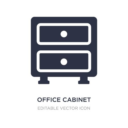 office cabinet icon on white background. Simple element illustration from General concept. office cabinet icon symbol design. 矢量图像