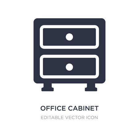 szafka biurowa ikona na białym tle. Prosta ilustracja elementu z koncepcji ogólnej. projekt symbolu ikony szafki biurowej.