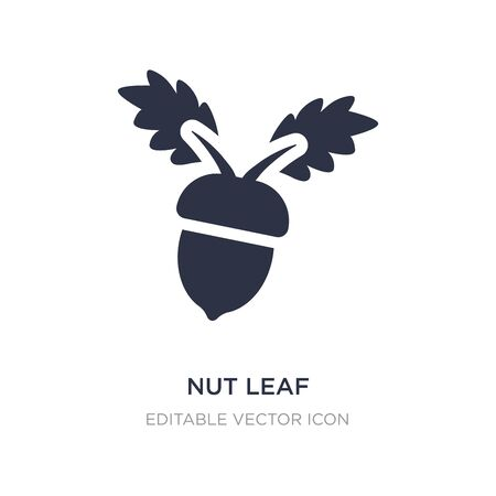 nut leaf icon on white background. Simple element illustration from Nature concept. nut leaf icon symbol design. 向量圖像