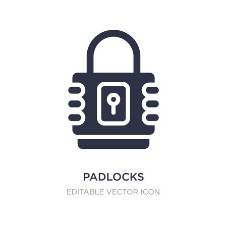 padlocks icon on white background. Simple element illustration from Security concept. padlocks icon symbol design. Çizim