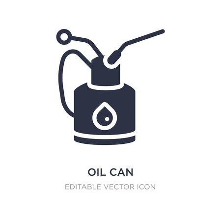 oil can icon on white background. Simple element illustration from Other concept. oil can icon symbol design.