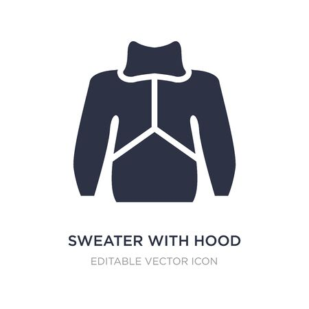 sweater with hood icon on white background. Simple element illustration from Fashion concept. sweater with hood icon symbol design. Illustration
