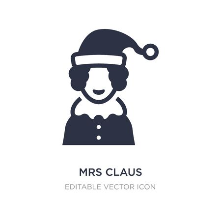 mrs claus icon on white background. Simple element illustration from Christmas concept. mrs claus icon symbol design. Ilustração