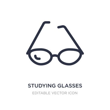 studying glasses icon on white background. Simple element illustration from Education concept. studying glasses icon symbol design. Ilustração