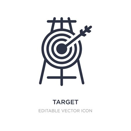 target icon on white background. Simple element illustration from Business concept. target icon symbol design.