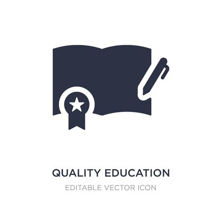 quality education icon on white background. Simple element illustration from Education concept. quality education icon symbol design.