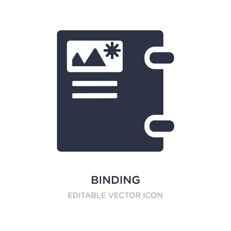 binding icon on white background. Simple element illustration from Education concept. binding icon symbol design.