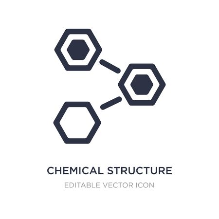 chemical structure icon on white background. Simple element illustration from Nature concept. chemical structure icon symbol design.