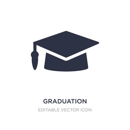 graduation mortarboard icon on white background. Simple element illustration from Education concept. graduation mortarboard icon symbol design.