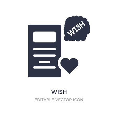 wish icon on white background. Simple element illustration from General concept. wish icon symbol design.