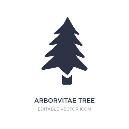 arborvitae tree icon on white background. Simple element illustration from Nature concept. arborvitae tree icon symbol design.