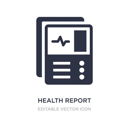 health report icon on white background. Simple element illustration from Dentist concept. health report icon symbol design.