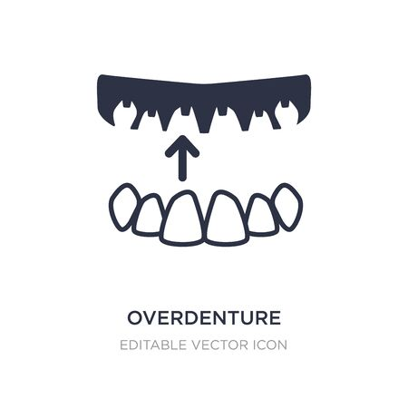 overdenture icon on white background. Simple element illustration from Dentist concept. overdenture icon symbol design. Vecteurs