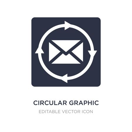 circular graphic icon on white background. Simple element illustration from Web concept. circular graphic icon symbol design.