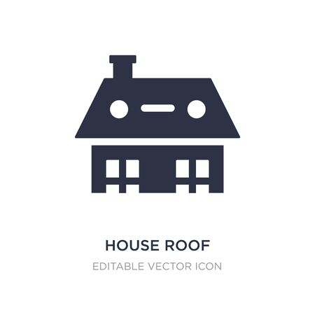 house roof icon on white background. Simple element illustration from Buildings concept. house roof icon symbol design. Ilustração