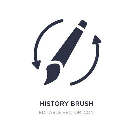 history brush icon on white background. Simple element illustration from General concept. history brush icon symbol design.