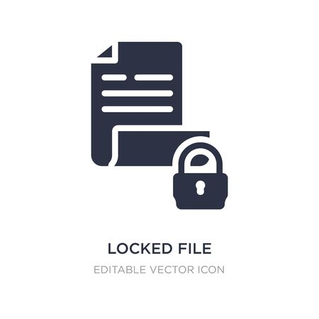 locked file icon on white background. Simple element illustration from Security concept. locked file icon symbol design.