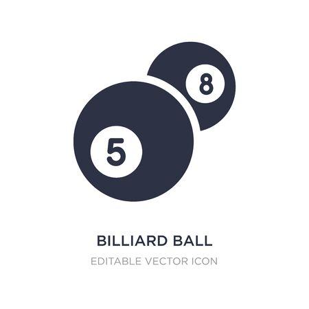 billiard ball icon on white background. Simple element illustration from Gaming concept. billiard ball icon symbol design.