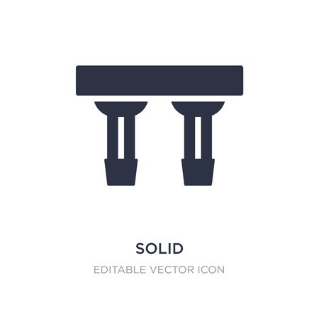 solid icon on white background. Simple element illustration from Cinema concept. solid icon symbol design. Illustration