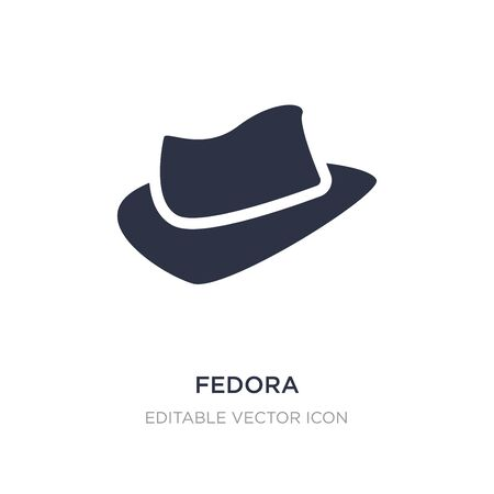 fedora icon on white background. Simple element illustration from Fashion concept. fedora icon symbol design.