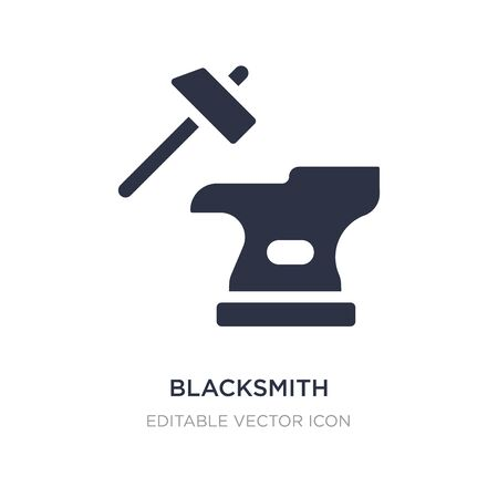 blacksmith icon on white background. Simple element illustration from Cultures concept. blacksmith icon symbol design. Standard-Bild - 135301167