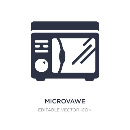 microvawe icon on white background. Simple element illustration from Other concept. microvawe icon symbol design.