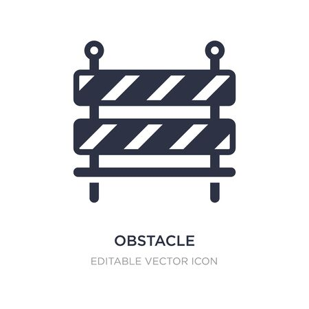 obstacle icon on white background. Simple element illustration from Security concept. obstacle icon symbol design.