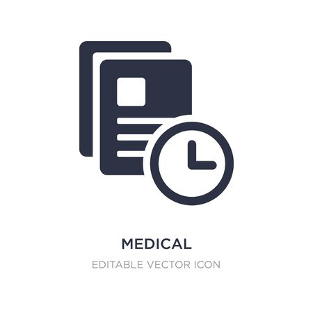 medical prescription icon on white background. Simple element illustration from Dentist concept. medical prescription icon symbol design.