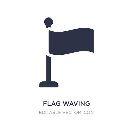 flag waving icon on white background. Simple element illustration from Communications concept. flag waving icon symbol design.
