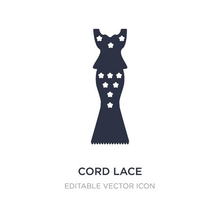 cord lace icon on white background. Simple element illustration from Fashion concept. cord lace icon symbol design. Çizim